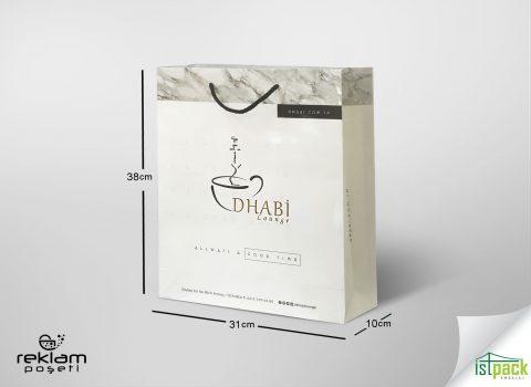 Dhabi için ürettiğimiz karton poşet